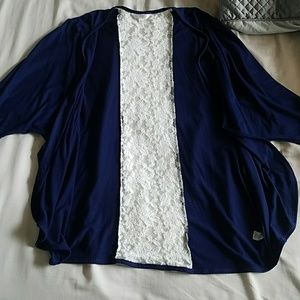 Navy Kimono with Lace accent | Charming Charlie